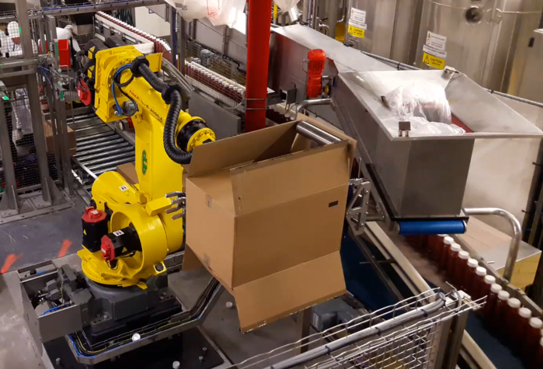 Heinz uitpak robot